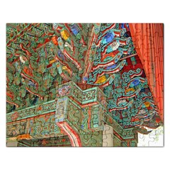 Traditional Korean Painted Paterns Rectangular Jigsaw Puzzl