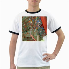 Traditional Korean Painted Paterns Ringer T-Shirts