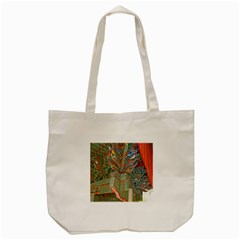 Traditional Korean Painted Paterns Tote Bag (Cream)