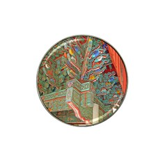 Traditional Korean Painted Paterns Hat Clip Ball Marker