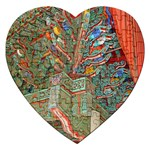 Traditional Korean Painted Paterns Jigsaw Puzzle (Heart) Front