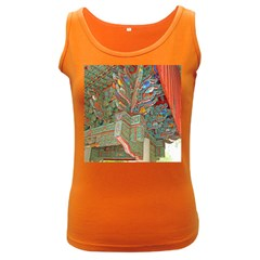 Traditional Korean Painted Paterns Women s Dark Tank Top