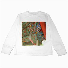 Traditional Korean Painted Paterns Kids Long Sleeve T-Shirts