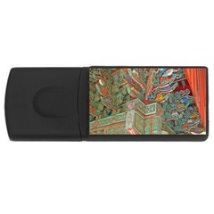Traditional Korean Painted Paterns USB Flash Drive Rectangular (4 GB)