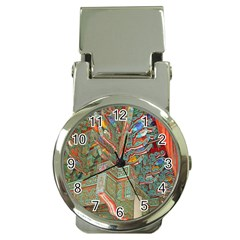 Traditional Korean Painted Paterns Money Clip Watches