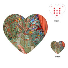 Traditional Korean Painted Paterns Playing Cards (Heart)