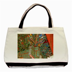 Traditional Korean Painted Paterns Basic Tote Bag