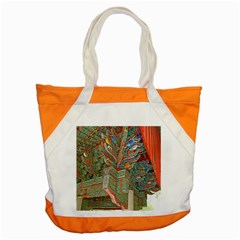 Traditional Korean Painted Paterns Accent Tote Bag