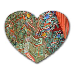 Traditional Korean Painted Paterns Heart Mousepads