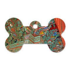 Traditional Korean Painted Paterns Dog Tag Bone (Two Sides)