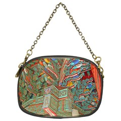Traditional Korean Painted Paterns Chain Purses (One Side)