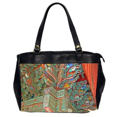 Traditional Korean Painted Paterns Office Handbags (2 Sides)