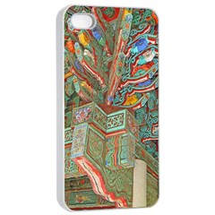 Traditional Korean Painted Paterns Apple iPhone 4/4s Seamless Case (White)