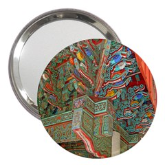 Traditional Korean Painted Paterns 3  Handbag Mirrors
