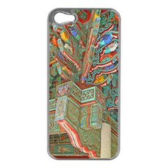 Traditional Korean Painted Paterns Apple iPhone 5 Case (Silver)