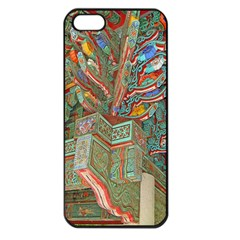 Traditional Korean Painted Paterns Apple iPhone 5 Seamless Case (Black)