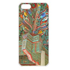 Traditional Korean Painted Paterns Apple iPhone 5 Seamless Case (White)