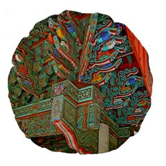 Traditional Korean Painted Paterns Large 18  Premium Round Cushions