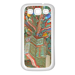 Traditional Korean Painted Paterns Samsung Galaxy S3 Back Case (White)