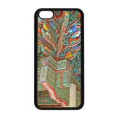 Traditional Korean Painted Paterns Apple iPhone 5C Seamless Case (Black)