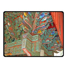 Traditional Korean Painted Paterns Double Sided Fleece Blanket (Small)