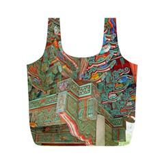 Traditional Korean Painted Paterns Full Print Recycle Bags (M)