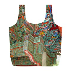 Traditional Korean Painted Paterns Full Print Recycle Bags (L)
