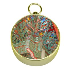 Traditional Korean Painted Paterns Gold Compasses