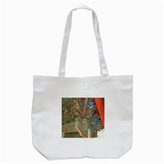 Traditional Korean Painted Paterns Tote Bag (White)