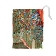Traditional Korean Painted Paterns Drawstring Pouches (large)