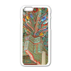 Traditional Korean Painted Paterns Apple iPhone 6/6S White Enamel Case