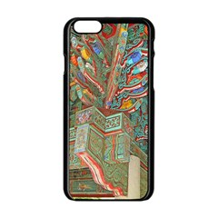 Traditional Korean Painted Paterns Apple iPhone 6/6S Black Enamel Case