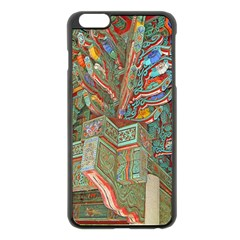 Traditional Korean Painted Paterns Apple iPhone 6 Plus/6S Plus Black Enamel Case