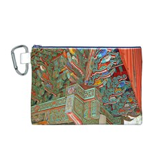 Traditional Korean Painted Paterns Canvas Cosmetic Bag (M)