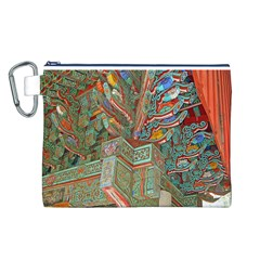 Traditional Korean Painted Paterns Canvas Cosmetic Bag (L)