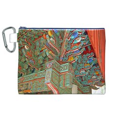 Traditional Korean Painted Paterns Canvas Cosmetic Bag (XL)