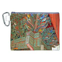 Traditional Korean Painted Paterns Canvas Cosmetic Bag (XXL)