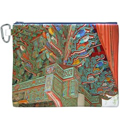 Traditional Korean Painted Paterns Canvas Cosmetic Bag (XXXL)