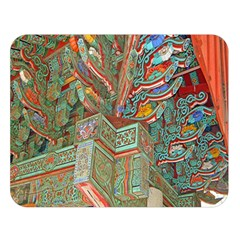Traditional Korean Painted Paterns Double Sided Flano Blanket (Large)