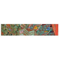 Traditional Korean Painted Paterns Flano Scarf (Small)