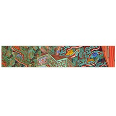 Traditional Korean Painted Paterns Flano Scarf (Large)