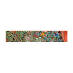Traditional Korean Painted Paterns Flano Scarf (Mini)