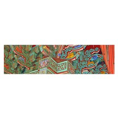 Traditional Korean Painted Paterns Satin Scarf (Oblong)