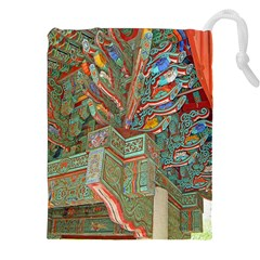 Traditional Korean Painted Paterns Drawstring Pouches (XXL)