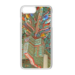 Traditional Korean Painted Paterns Apple iPhone 7 Plus White Seamless Case