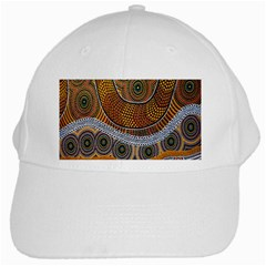 Aboriginal Traditional Pattern White Cap