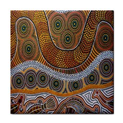 Aboriginal Traditional Pattern Tile Coasters