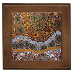 Aboriginal Traditional Pattern Framed Tiles