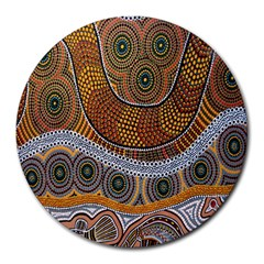Aboriginal Traditional Pattern Round Mousepads