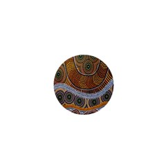 Aboriginal Traditional Pattern 1  Mini Buttons